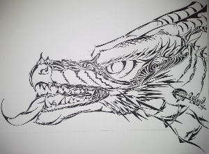 Tribal dragon head